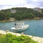 Kroatien Pag Schiff in der Bucht